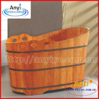 Hot sale imports oak wooden spa tub, indoor wood bathtub for sale