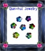 Colorful glass irregular cubic zircon jewelry