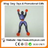 Plastic promotion toy 9cm cralwer man soft sticky wall toys