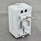 All in one US UK AU EU Universal Travel Adapter AC Power Plug white color