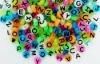 Cheap Plastic Alphabet Beads 9mm