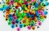 Cheap Plastic Alphabet Beads 9mm