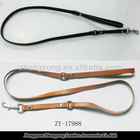 brown dog leather collar&dog leashes