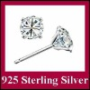 DLS925E002 Genuine 925 Sterling Silver 5MM Switzerland Diamond Little Stud Earrings