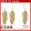 Wholesale China 2012 leaf design fine fashion gold jewelry