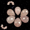 Fashion natural gemstone faceted rose quartz beads