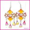 fashion diamond chandelier earrings