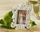 BeterWedding decoration wholesale SZ041/A Baroque Style Photo Frame(white)Wedding Souvenir, Wedding Favor