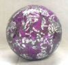 2012 newest hand made cheap purple with silver rose mosaic glass ball for home&garden decoration