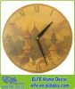 antique wooden scenery wall clock