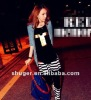 Stylish Colorful Stripe Splicing Harlan Pants HD12092403