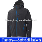 mens fashion waterproof and winderproof softshell jacket