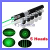 5 Heads Pattern Green Laser Pen Pointer 5MW 532NM