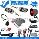 Top Quality GSM car alarm with GPS tracking,moble start,remote start,push button start modes,Learning code,SMS alarm,program key