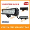 72w cree led work light bar,led light roof bar,for 4x4 ATV/UTV/OFF ROAD CAR/MINING