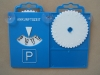 Car Plastic Parking Disk with two cupules and hanging orifice