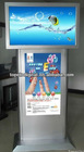 42 inch stand alone dual screen touch kiosk for shopping mall,airport,hotel lobby,banks,metro station
