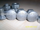 Guardrail bolt,hex bolt,hot dip galvanized bolt,threaded rod