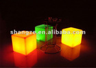 Led cube stool for night club, bar