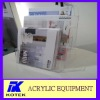acrylic 3 layer advertising brochures display shelf