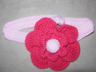 Kids Fahsion crochet flower knitted acrylic headband