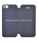 cell phone leather case for iphone 5 flip case
