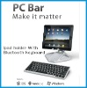 Super slim bluetooth keyboard with Ipad holder