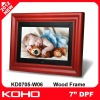 7 inch Beautiful Wood Frame digital photo fame