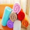 100%Polyester Solid Coral Fleece Blanket