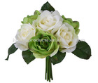 "Wedding Flowers (10.5""H Artificial Wedding Bouquet of 7 Open Roses )"