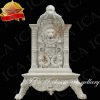 White marble water wall fountain