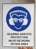 Safety Sign-Hearing Protection 450mm*300mm 1.4mm PP