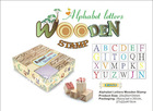 Alphabet Letters Wooden Stamp Set with an Mini Ink Pad