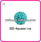 blue crystal clay shamballa beads lots (Z500120)