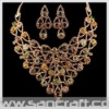 2011 rhinestone handmade golden bridal indian gemstone costume 14k gold jewelry