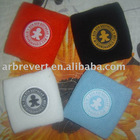 wristband with woven patch