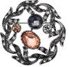 euramerican fashion alloy rhinestone brooch