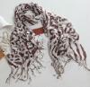 fashion design tassels pashmina chiffon leopard printed scarf