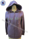 Ladies' cotton polyester knit hoodie