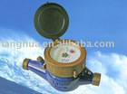 Multi-jet vane wheel dry-dial water meter