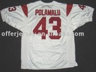 USC Trojans Jerseys #43 Polamalu Authentic White Jersey Mixed Order Size 48-56 Free Shipping