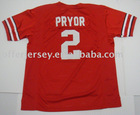 Ohio State Jerseys #2 PRYOR Authentic RED Jersey Mixed Order Size 48-56 Free Shipping