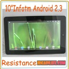 "10"" Android 2.3 Infotm 512MB 4GB Tablet PC Mid Resistance Tablet PC"
