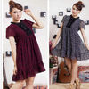2012 hot sale ladies short sleeve contrast color tops wholesale designer clothing