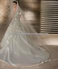 2013 Strapless Sweetheart Satin Inside Lace Over Tulle Skirt New Model 2013 Wedding Dress
