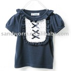 2011 latest embroidered girls t-shirt