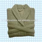 100% soft coral fleece bathrobe