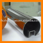 Building glass with SLOTTED tubes for glazing system