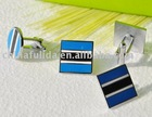 Promotion metal Cufflinks with epoxy coated
