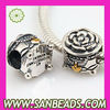 Wholesale European Sterling Silver Box Charm Beads